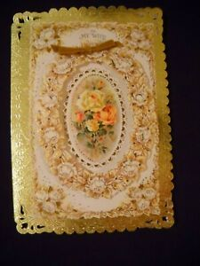 Vintage-Hallmark-3D-Mother-039-s-Day-Card-To-My-Wife-Mint