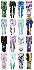 c1cef21cc3 Image is loading Women-s-Yoga-Printed-Leggings-Stretchy-Workout-Running-