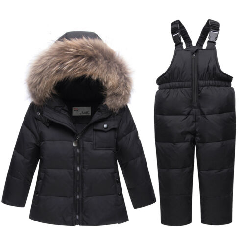 Thick Warm Kids Winter Snowsuit Waterproof Windproof Baby Ski Suit Down Coat New