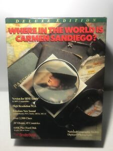 Where-In-The-World-Is-Carmen-Sandiego-Deluxe-1990-Broderland-Used-Incomplete-Pc