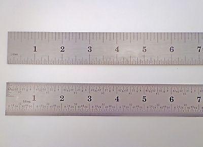 "Igaging 24"" Stainless Machinist Engineer 4R Ruler / Rule 1/8, 1/16, 1/32, 1/64"