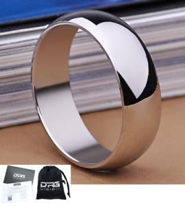 Anello-Fede-Fedina-Fascia-6-mm-Uomo-Donna-Unisex-Acciaio-Idea-Regalo-argento