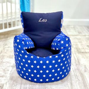 Details About Childrens Kids Toddler Pre Filled Personalised Bean Bag Chair Seat Boys