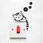 Funny-Cat-Light-Switch-Decoration-Sticker-Bedroom-Living-Room-Home-Decoration thumbnail 1
