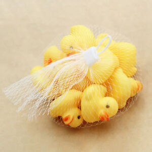 10PC-Squeezing-Call-Yellow-Rubber-Duck-Ducky-Baby-Shower-cute-Birthday-Gifts