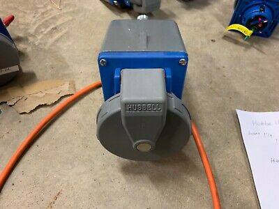 Hubbell 460R9W 250V 60A 3Ø Female Receptacle BB601W Metalic Device BackBox