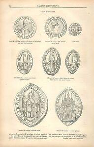 Sceaux Officialité Archevêque de Sens,Paris,Puy,Lyon,Cambrai GRAVURE PRINT 1880 - France - EBay Seals of Officiality Archbishop & Bishop of Sens, Paris, Puy, Lyon, Cambrai FranceANTIQUE PRINT GRAVURE 100 % DÉPOQUE 1880 PORT GRATUIT EUROPE A PARTIR DE 4 OBJETS BUY 4 ITEMS AND EUROPE SHIPPING IS FREE Il s'agit d'un fragment de page orig - France