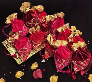 20*Wedding Table Decoration Mehndi Bid Favour Gift Bags-Indian ...