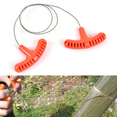 1pc stainless steel wire saw outdoor camping emergency survival gear tools CA