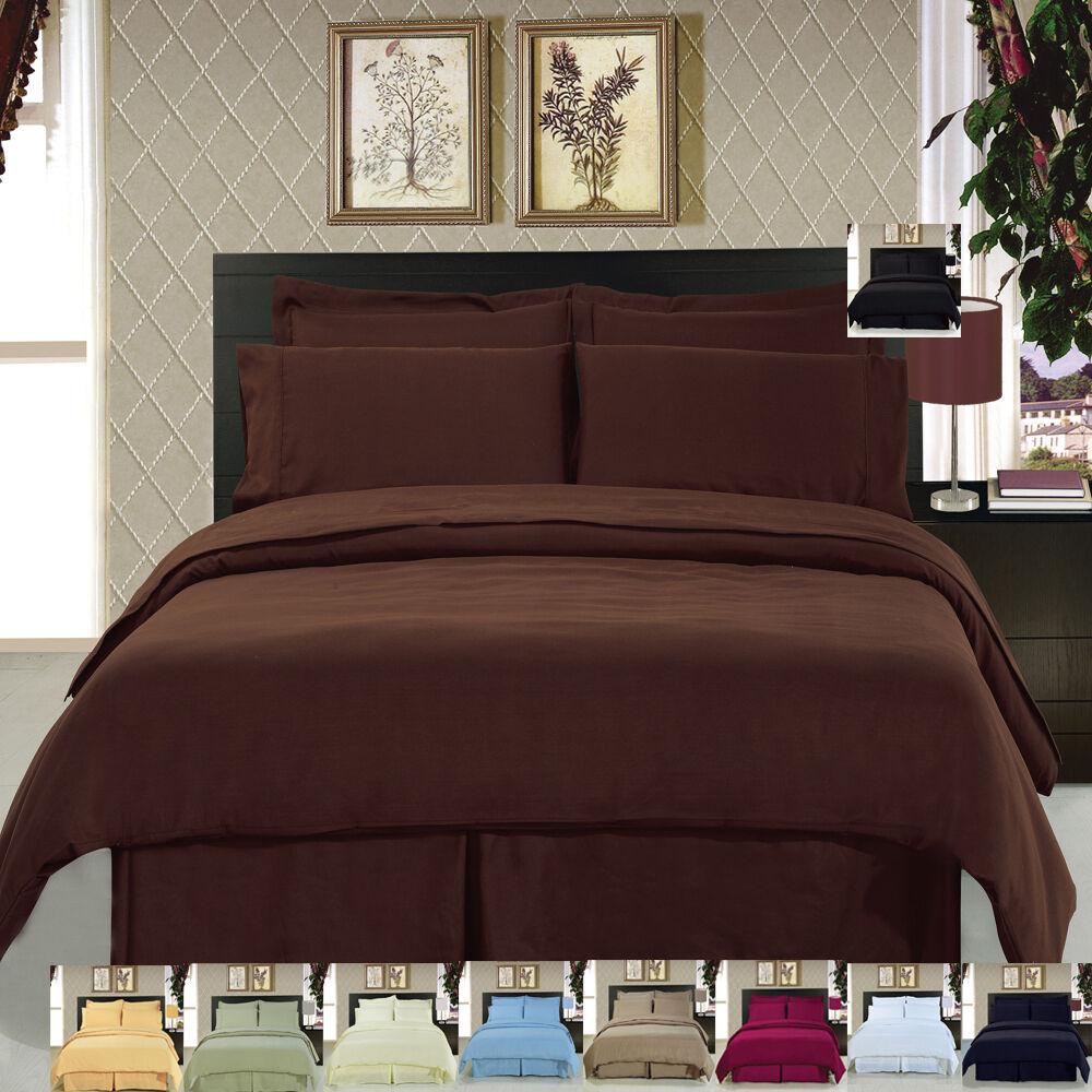 100% Brushed Microfiber Super Soft Luxury 8PC Solid Bedding Set