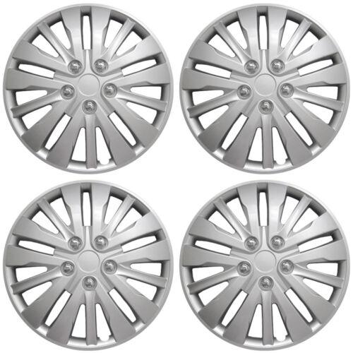 """4 Piece Set A//M Silver ABS 03-15 Honda Accord 16/"""" Wheel Skin Cover Hub Cap"""