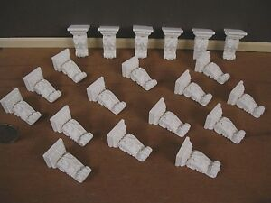 6  CARVED   BRACKETS CORBELS~  1:12 scale ~Dollhouse Mini ~ Gold ~ Room Box