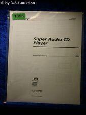 Sony Bedienungsanleitung SCD XB780 Super Audio CD Player (#1855)