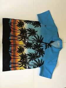 High-Seas-Resortwear-Bahamas-Men-039-s-SHIRT-SIZE-XXL-BLUE-ORANGE-YELLOW