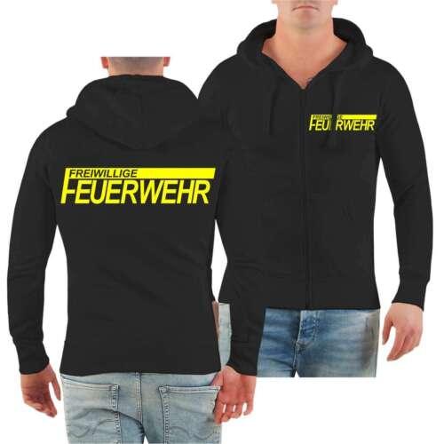 Giacca con cappuccio FFW vigili del fuoco volontari Giallo Neon Verein luogo regalo professionale