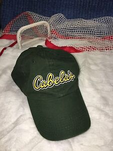 Image is loading Cabelas-Green-Hat-Cap-Adjustable-strap-Hunting-Fishing- 5e30425cb72d