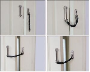 Strong-CHROME-DOOR-CHAIN-HIGH-SECURITY-Safety-Guard-Restrictor-Lock-with-Screws