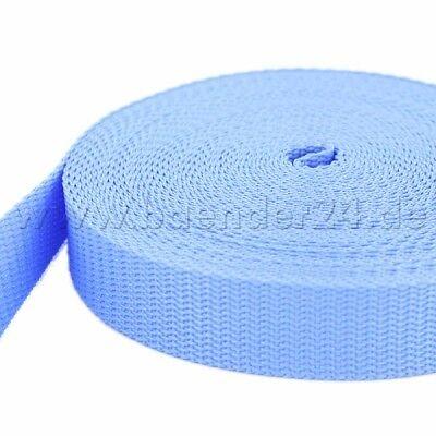 1,4mm stark 20mm breit hellblau//flieder 50m PP Gurtband UV