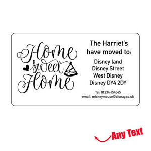 New Address House Home Stickers We Have Moved To Labels Personalised 1002