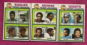 1979-TOPPS-BROWNS-GIANTS-EAGLES-UNMARKED-TEAM-CHECKLIST-INV-A6151