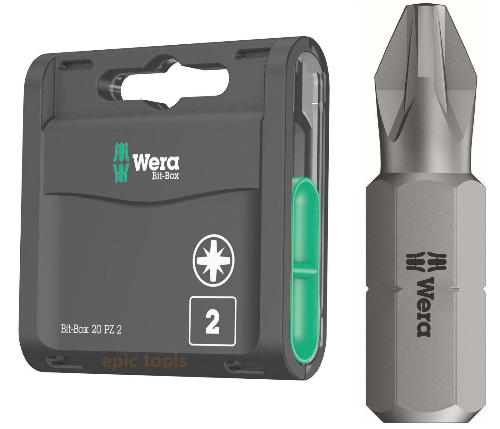 Wera 05057760001 Bit-Box 20 PZ 2 Pack of 20
