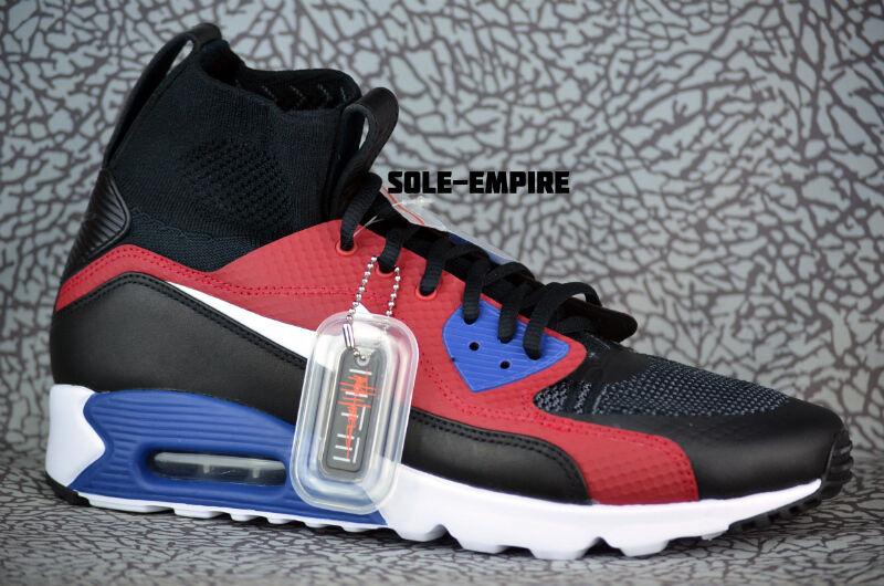 Nike Air Max Ultra Superfly Tinker Hatfield 850613-001 Black White Red Blue
