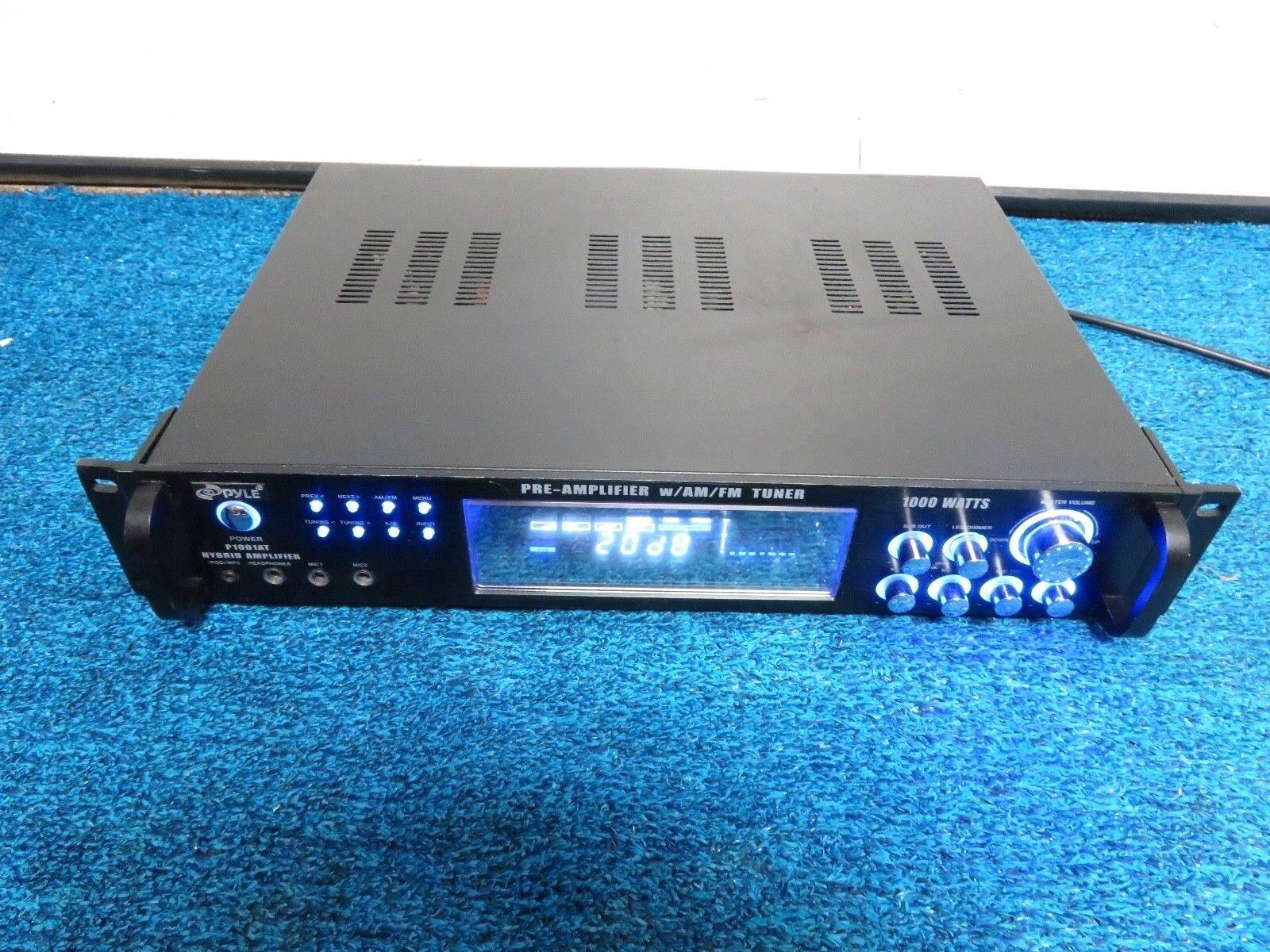 Pyle Am Fm Tuner Hybrid Pre Amplifier P1001AT 1000 Watt MP3 AUX MIC P&R