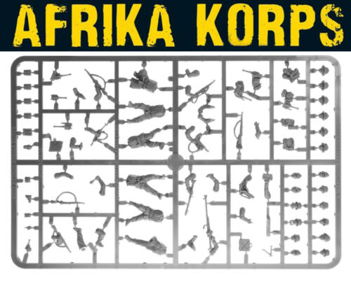 German Afrika Korps Infantry Sprue 28mm WWII WARLORD GAMES BOLT ACTION