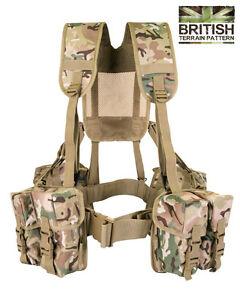Army Military Combat Full Webbing Belt Web System BTP Assault Vest British New