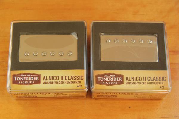 TONERIDER AC2 NICKEL SET ALNICO II CLASSIC VINTAGE AC2N + AC2B IMPROVED 50's PAF
