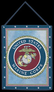 Estados-Unidos-MARINE-CORPS-USMC-Tapiz-bannerette-colgante-de-pared