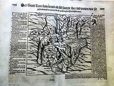 ROMA MÜNSTER/MUNSTER: Cosmographia 1588. LAZIO