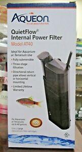 NEW-Aqueon-QUIETFLOW-Internal-Power-Filter-Aquarium-Terrarium-AT40-1229