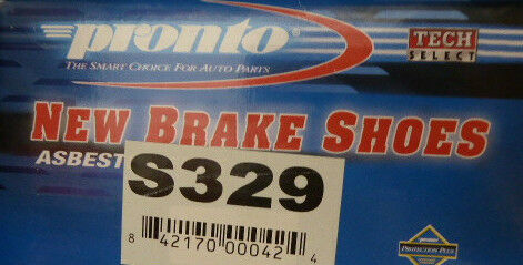 BRAND NEW PRONTO REAR BRAKE SHOES S329 329 FITS VEHICLES LISTED ON CHART