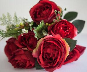 Soie-Artificielle-Pivoine-Fleur-Bouquet-NO-2-7-Couleurs-Mariage-Piece-Centrale-Decoration