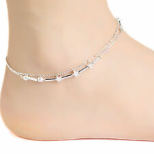 New Women Fashion 925 Sterling Silver Star Charm Chain Ankle Wrist  Bracelet