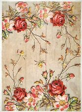 Rice Paper for Decoupage Scrapbooking Painted Magnolia Flowers A4 ITD R277