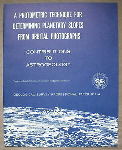 USGS APOLLO PHOTOMETRIC TECHNIQUE for PLANETARY SLOPES Vintage 1973 Report