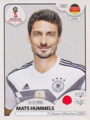 435 Mats Hummels GER Germany Bild NEU Panini Sticker Fußball WM 2018 Russia Nr