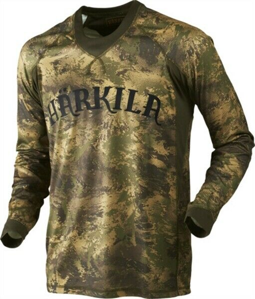 Harkila Lynx Long Sleeve T Shirt Men's Camouflage Country Hunting Shooting