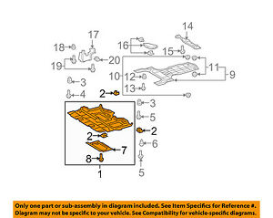 2007 camry engine splash shield diagram