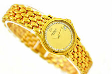 Vintage Raymond Weil 18kt Gold Plated Ladies Quartz Watch 1029