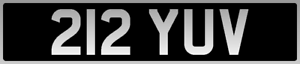 6 DIGIT BARGAIN AGE COVER DATELESS BRITISH 3X3 NUMBER PLATE 212 YUV FERRARI 212