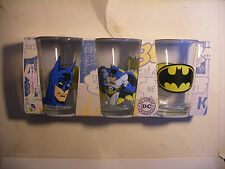 MARVEL DC Comics Set 3 verre PASABAHCE BATMAN drinking glass EXCLUSIF