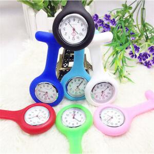 Plastica Infermiere Spilla Orologio Da Tasca Quarzo Pocket Watch Unisex 6 Colore à Distribuer Partout Dans Le Monde