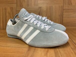 Illinois recluta sin cable  RARE🔥 Adidas Okapi Athletic Shoes Women's Racer Sz 8.5 Suede Gray Powder  White   eBay