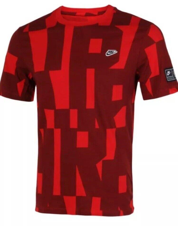NEW NIKE AIR Force Men's SZ L T-Shirt Top BV1095 677 RED