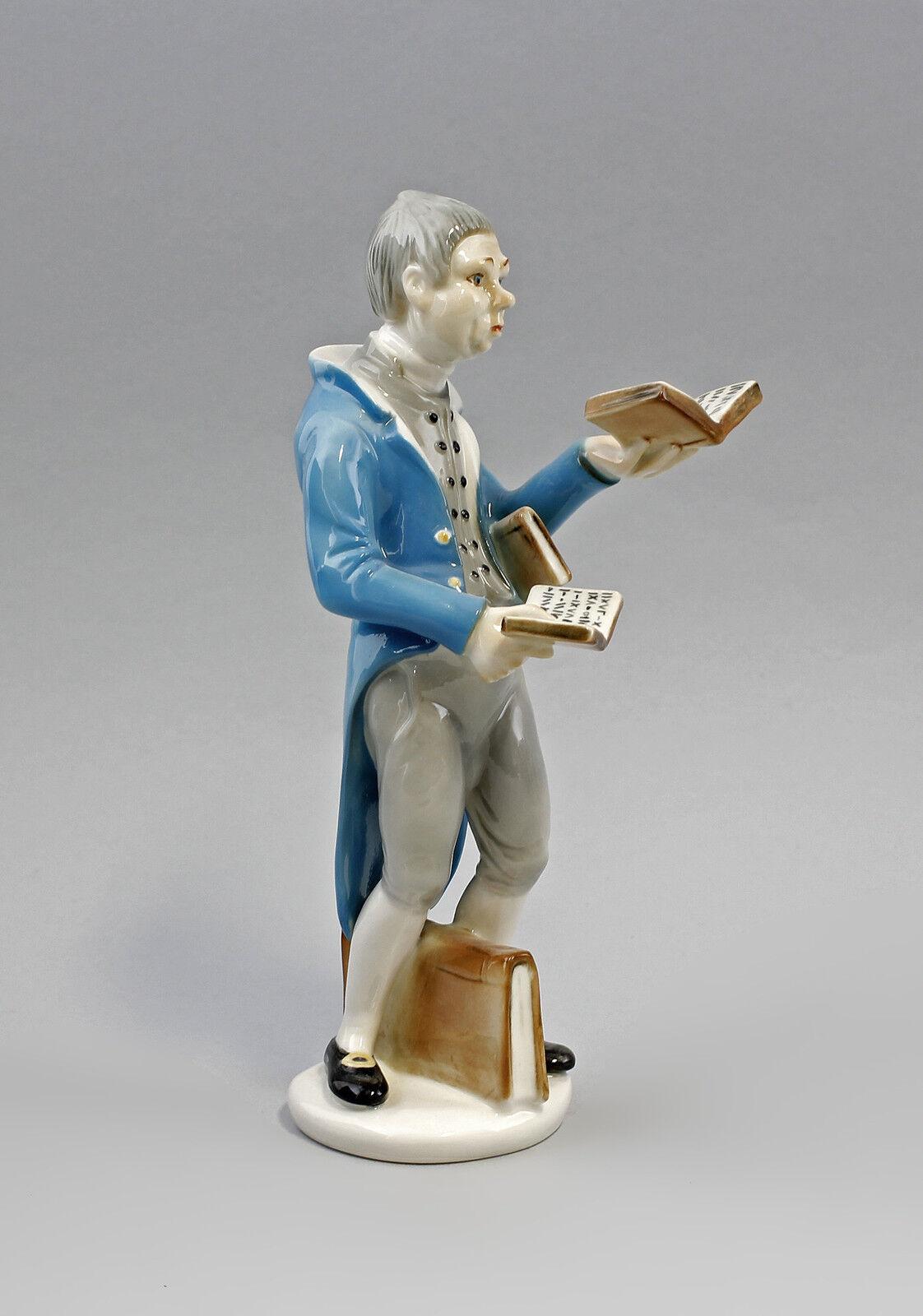 Porzellan Figur Bücherwurm nach Spitzweg Ens Ens Ens H22cm 9941595 d36511