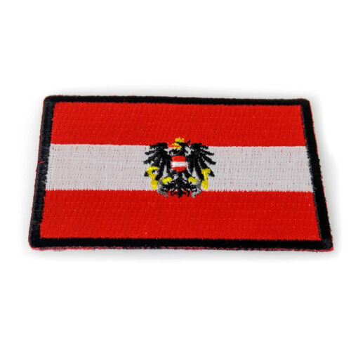 Embroidered Austria Austrian Flag Sew or Iron on Patch Biker Patch