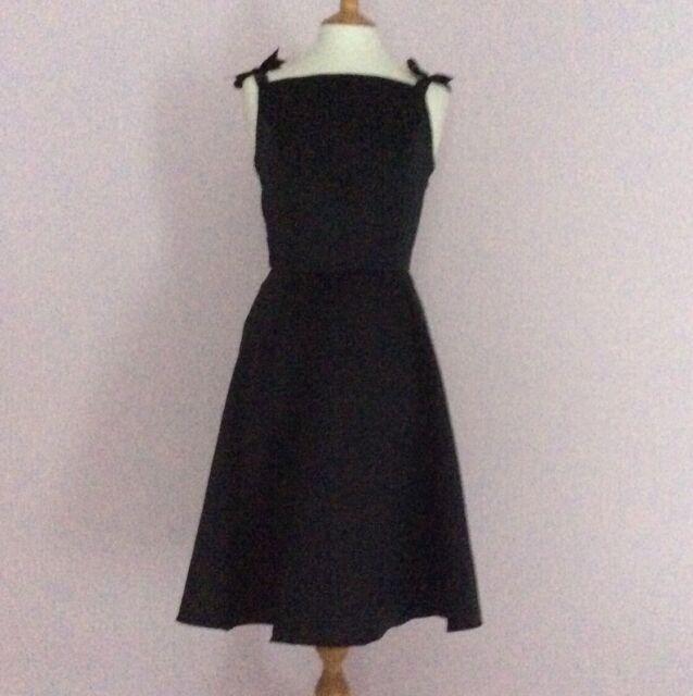 Vintage Noir Audrey Hepburn Flare sur mesure Robe
